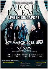Arch Enemy Live in Singapore - INOKII