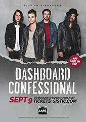 Dashboard Confessional Live in Singapore 2017 - LAMC PRODUCTIONS