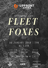Fleet Foxes Live in Malaysia 2018 - FREEFORM UNTITLED