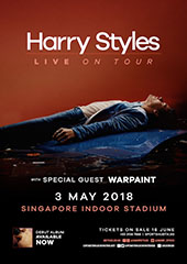 Harry Styles Live in Singapore 2018 - LUSHINGTON ENTERTAINMENTS SINGAPORE