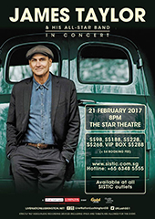 James Taylor Live in Singapore 2017 - LIVE NATION LUSHINGTON