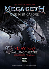 Megadeth Live in Singapore 2017 - LAMC PRODUCTIONS