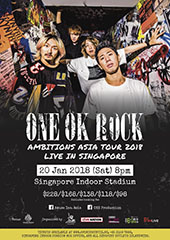 ONE OK ROCK Live in Singapore 2018 - AMUSE INC, LIVE NATION, B'IN LIVE, ONE PRODUCTION