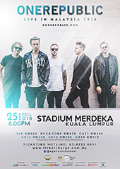 OneRepublic Live in Malaysia 2018 - WGW ENTERTAINMENT