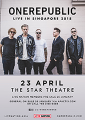 OneRepublic Live in Singapore 2018 - LIVE NATION SINGAPORE