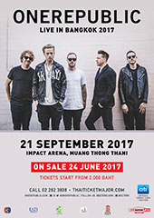 OneRepublic Live in Thailand 2017 - BEC-TERO ENTERTAINMENT