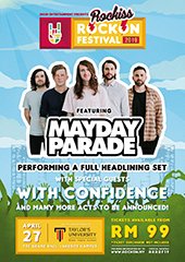 Rock On Festival with Mayday Parade, With Confidence etc in Malaysia - SKESH ENTERTAINMENT