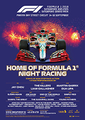 Singapore Grand Prix, September 2018 - SINGAPORE GP PTE LTD