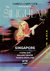 Sabrina Carpenter in Singapore - LAMC PRODUCTIONS