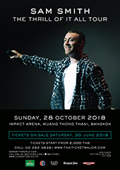 Sam Smith Live in Thailand - BEC TERO ENTERTAINMENT