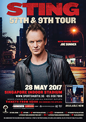 Sting Live in Singapore 2017 - LIVE NATION LUSHINGTON