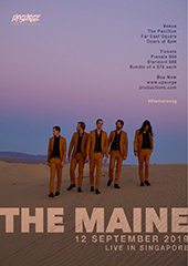 The Maine Live in Singapore - UPSURGE PRODUCTIONS