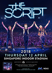 The Script Live in Singapore 2018 - MIDAS PROMOTIONS