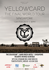 Yellowcard Live in Singapore 2017 - IMPACT LIVE